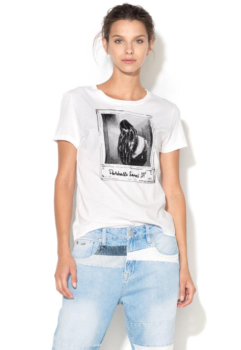 Pepe Jeans London Tricou cu broderie pe partea din fata Marisa