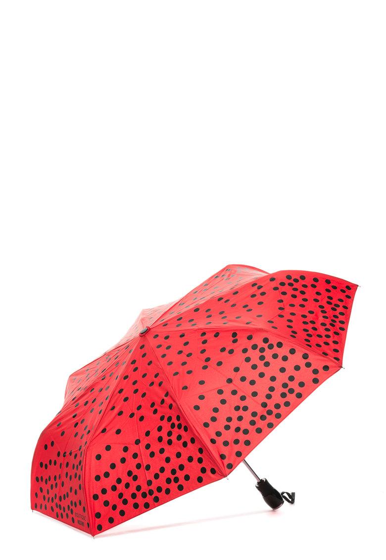 Moschino Umbrela telescopica cu imprimeu buline