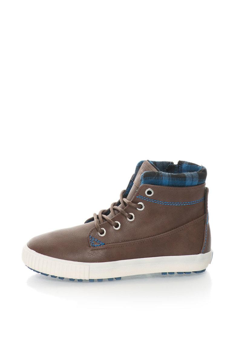Pantofi sport inalti de piele sintetica pentru copii SUBURBIA