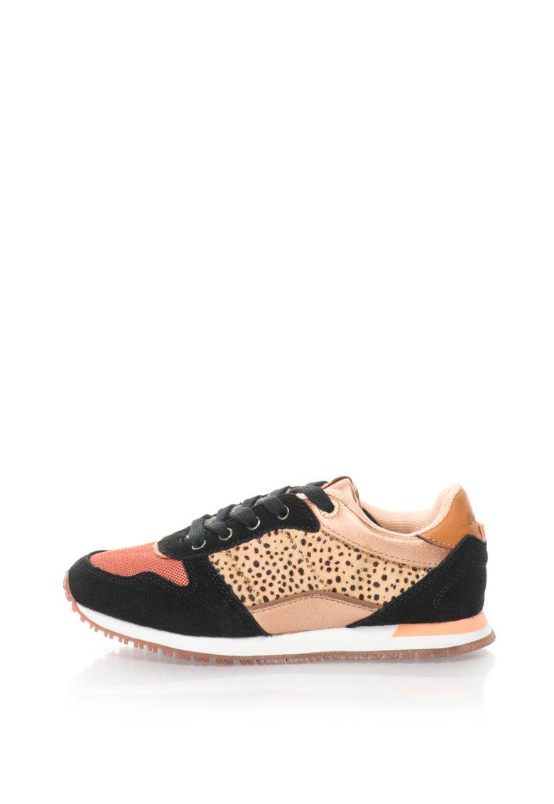 Pepe Jeans Pantofi sport cu garnituri de piele cu par scurt Sydney