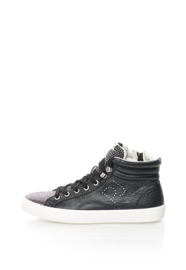 Pantofi sport mid-high stralucitori Clinton de la Pepe Jeans
