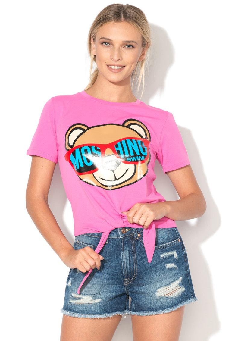 Tricou de plaja cu imprimeu cu ursulet de la Moschino