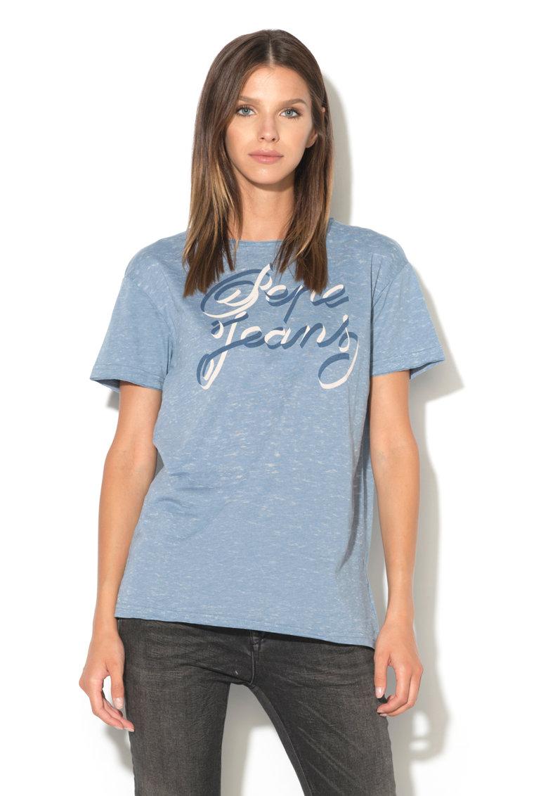 Pepe Jeans London Tricou cu imprimeu logo retro Jules