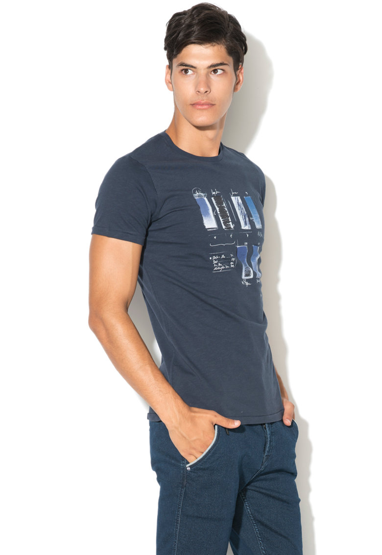 Pepe Jeans London Tricou slim fit cu model grafic Berkley