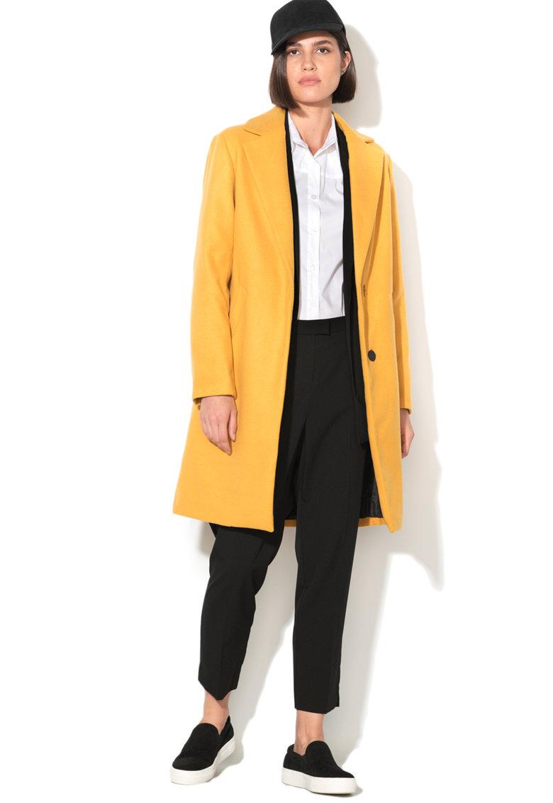 New Look Palton cu nasturi ascunsi Lead In