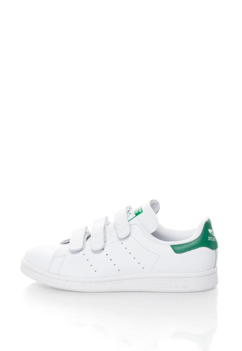 adidas Originals – Pantofi sport de piele Stan Smith – Alb