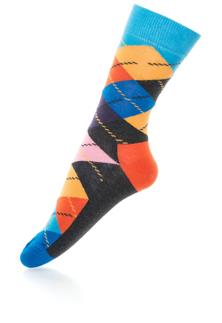 Happy Socks Sosete 3/4 cu imprimeu geometric – unisex