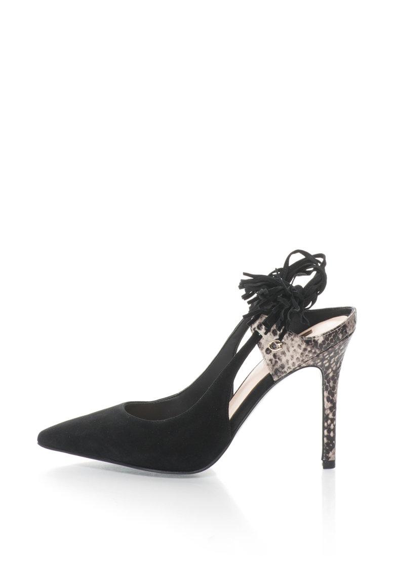 GUESS Pantofi cu varf ascutit si snururi infasurabile