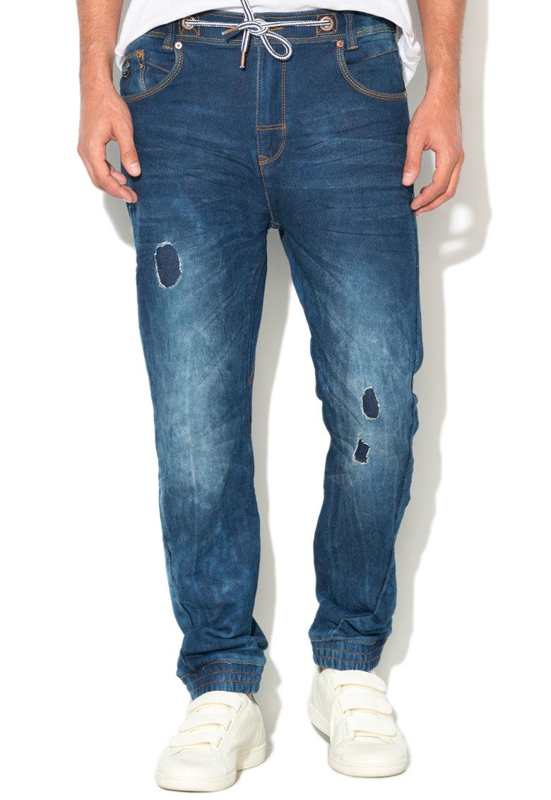Pantaloni cu aspect de denim