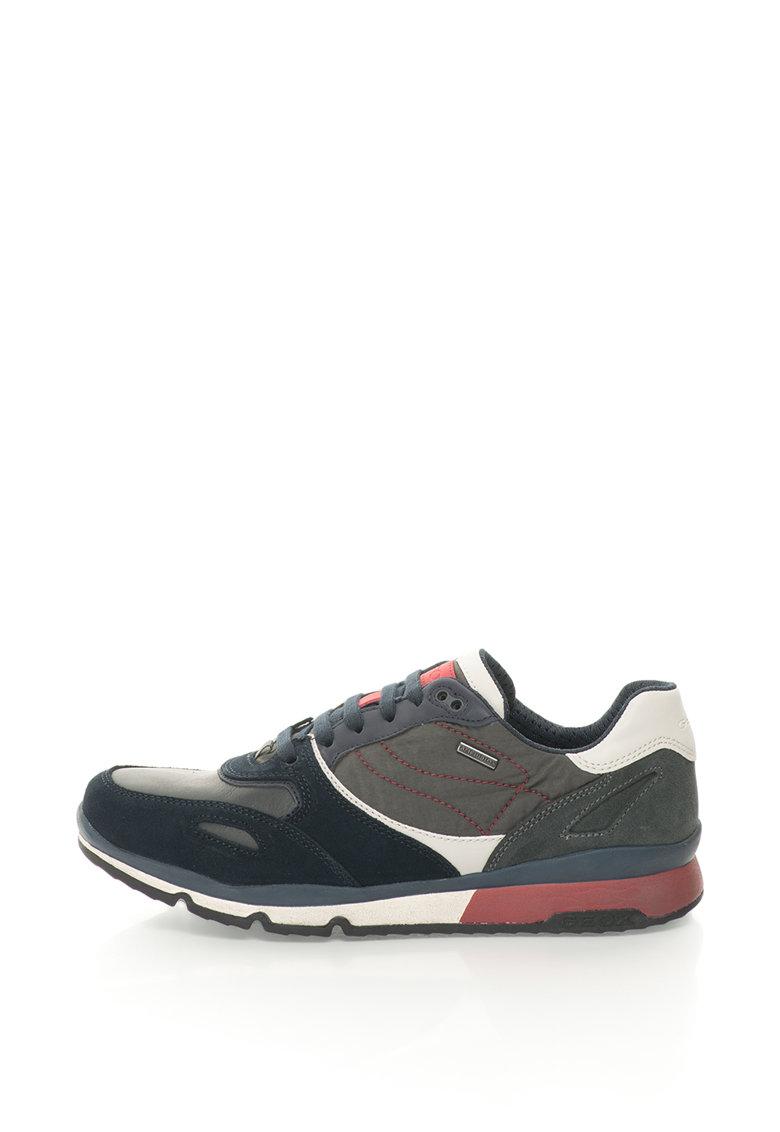 Geox Pantofi sport cu piele intoarsa Sandford