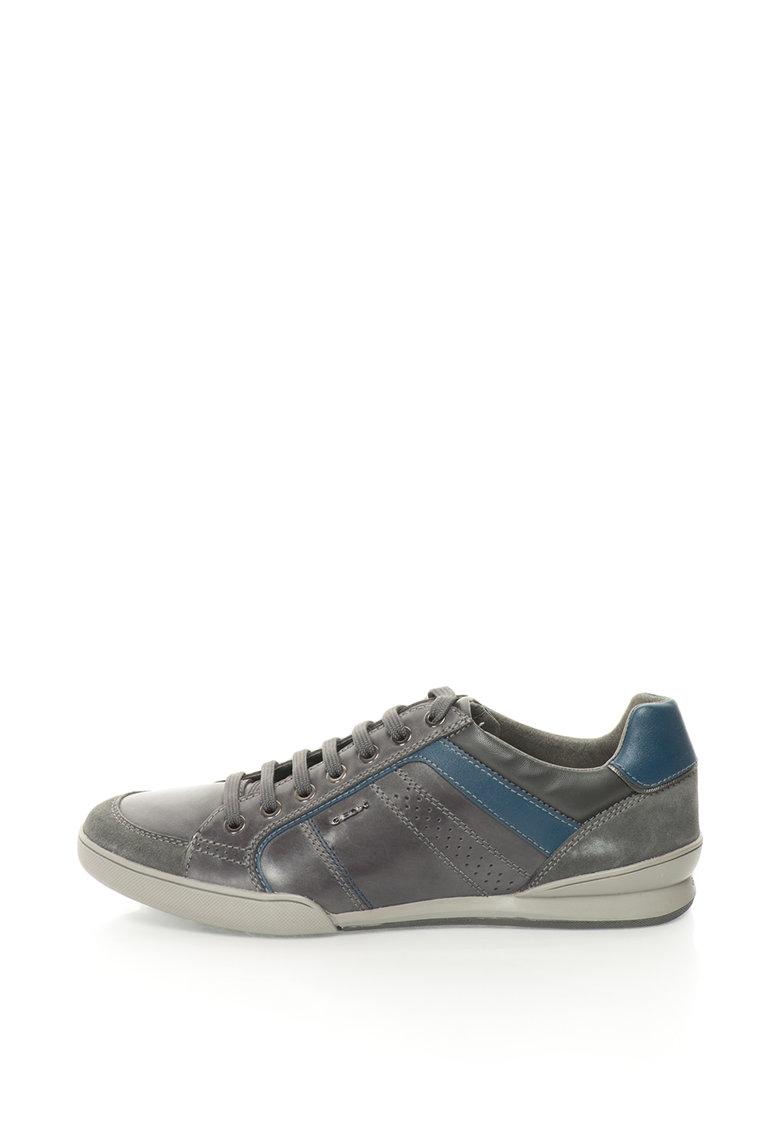 Geox Pantofi sport cu garnituri din piele intoarsa Kristof