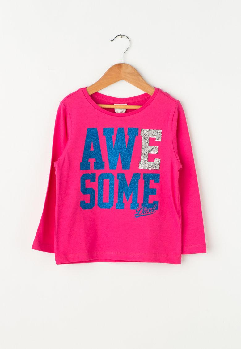 Bluza cu imprimeu text