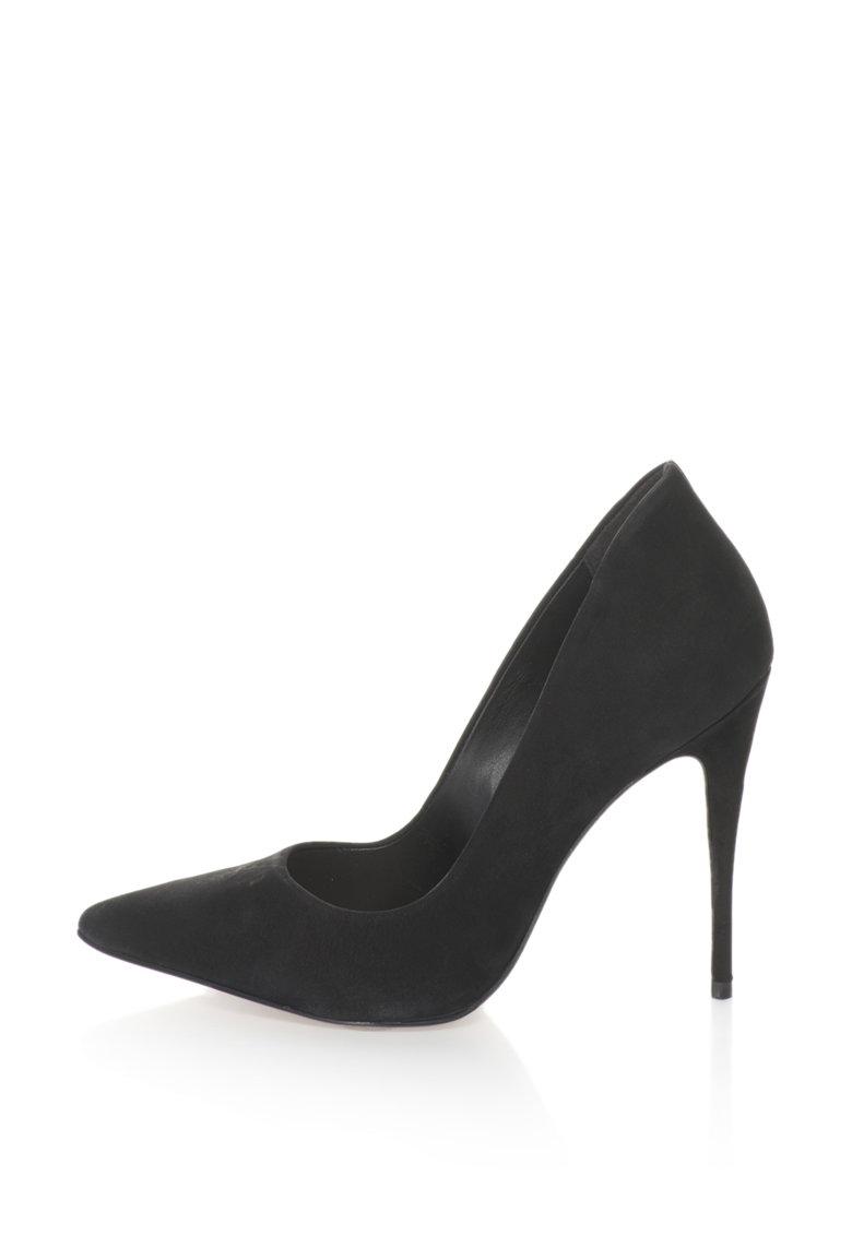 Pantofi stiletto de piele intoarsa Cassedy