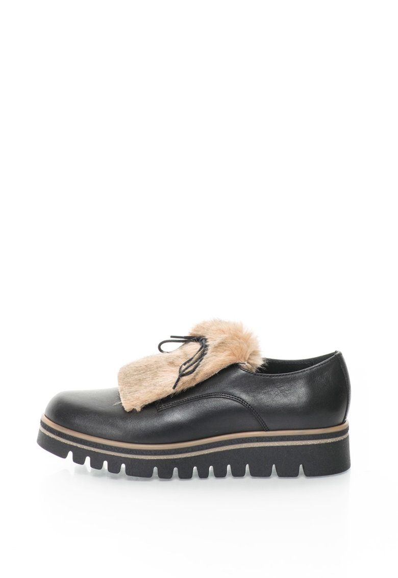 Pantofi derby de piele sintetica