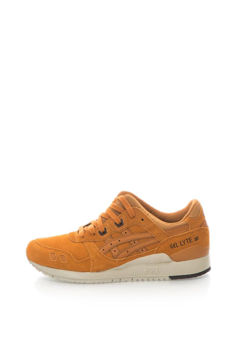 ASICS Tiger Asics – Pantofi sport de piele intoarsa si piele Gel-Lyte III