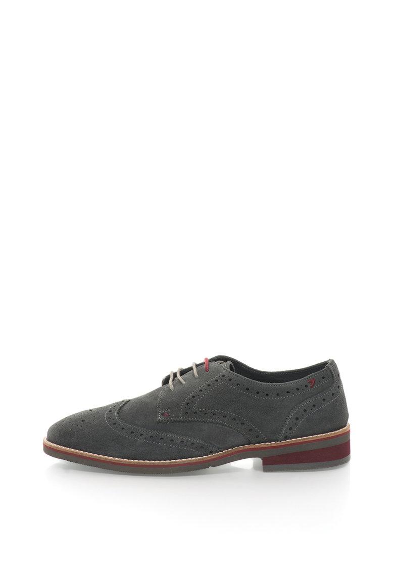 Gioseppo Pantofi brogue de piele intoarsa 41189