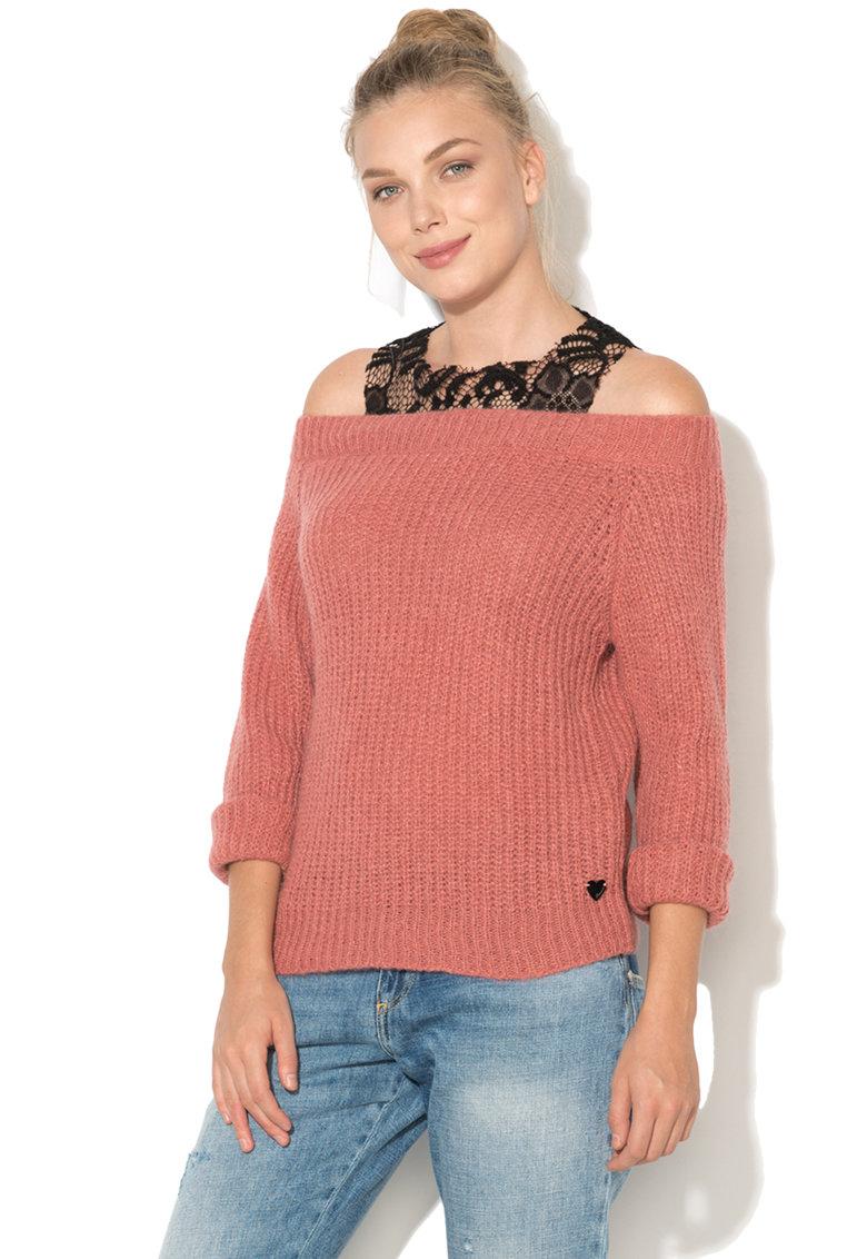 Fornarina Bluza din tricot cu decupaje pe umeri Bi