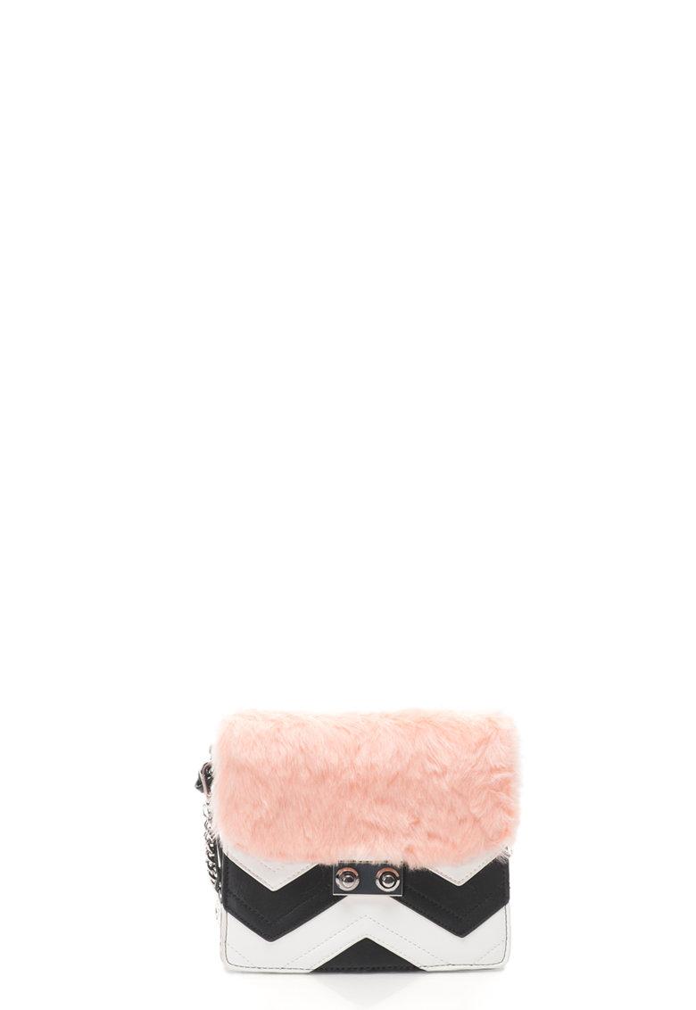 Geanta crossbody cu blana sintetica de la Gioseppo