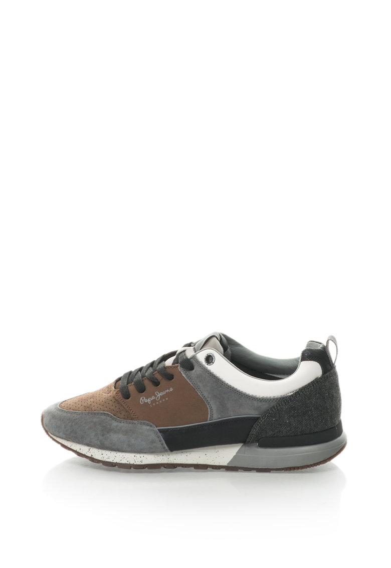 Pepe Jeans Pantofi sport cu garnituri de piele intoarsa  Boston