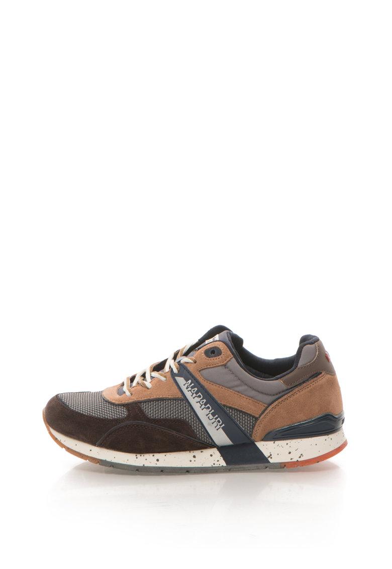 Pantofi sport cu garnituri de piele intoarsa Rabari de la Napapijri 15833199-N807-GREY-BROWN