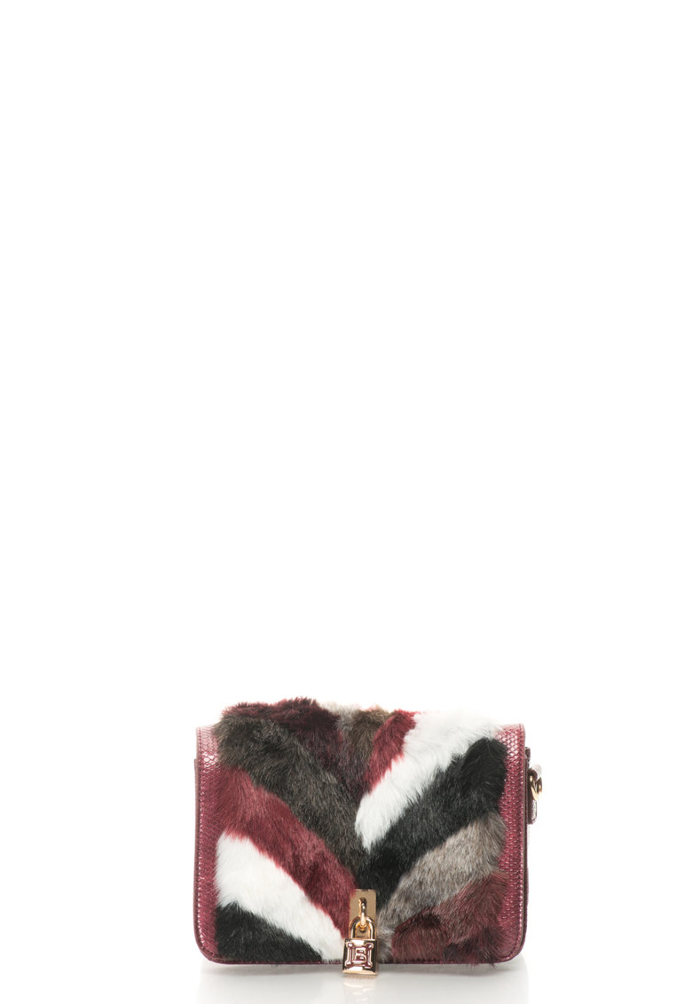 Geanta crossbody cu detalii din blana sintetica de la Laura Biagiotti