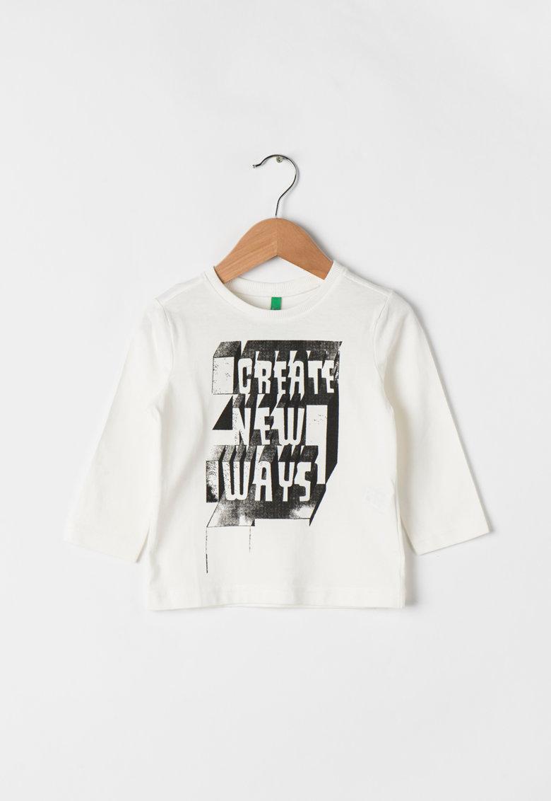 Bluza de bumbac cu imprimeu text de la United Colors of Benetton – 3YR3C13EN-074