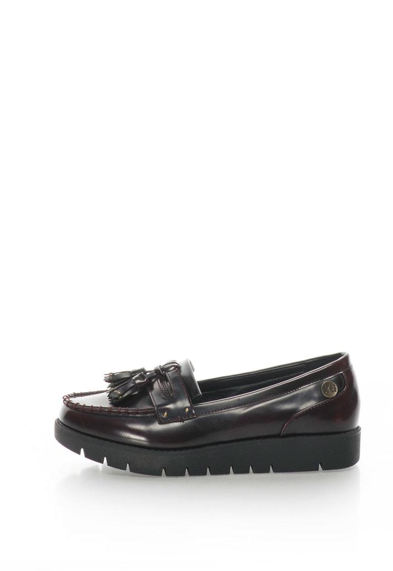 Xti Pantofi loafer flatform decorati cu canafi