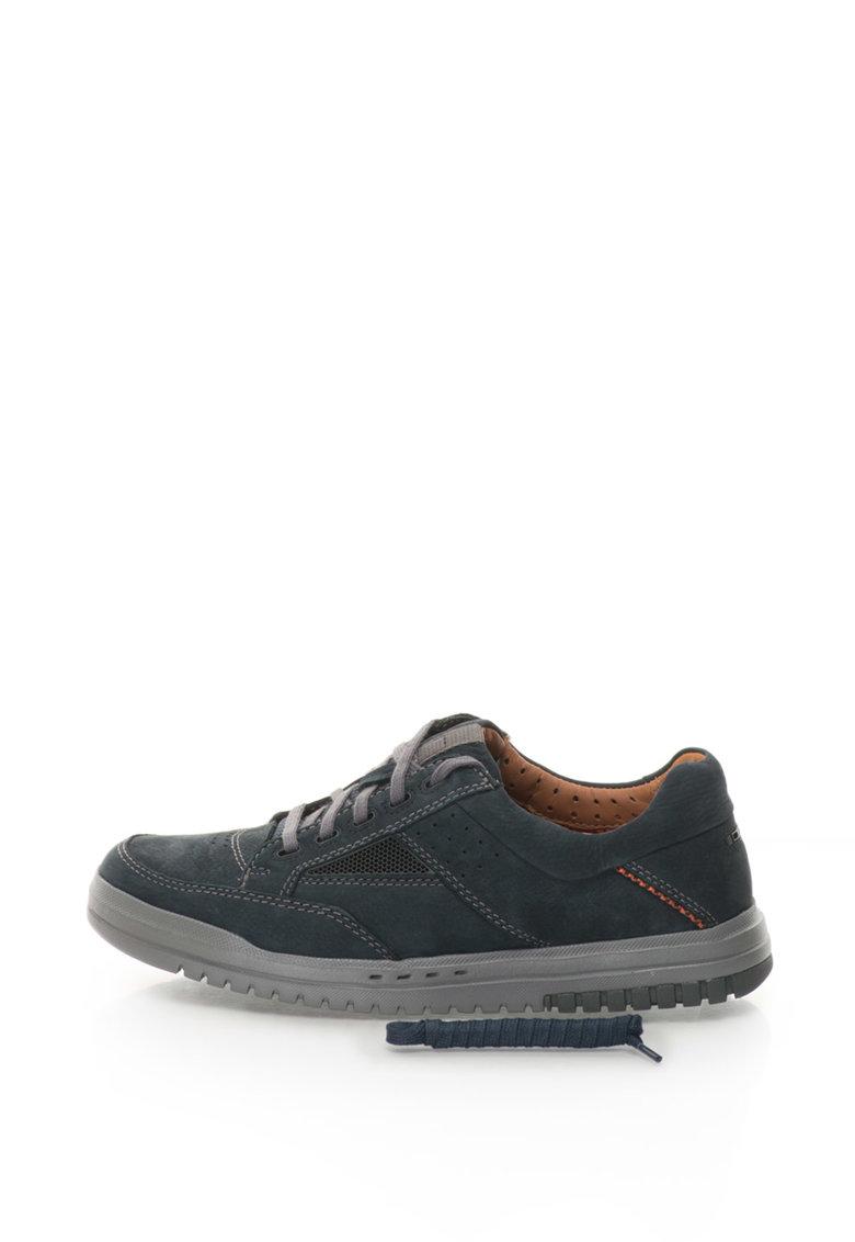 Clarks Pantofi casual de piele nabuc Unrhombus Go