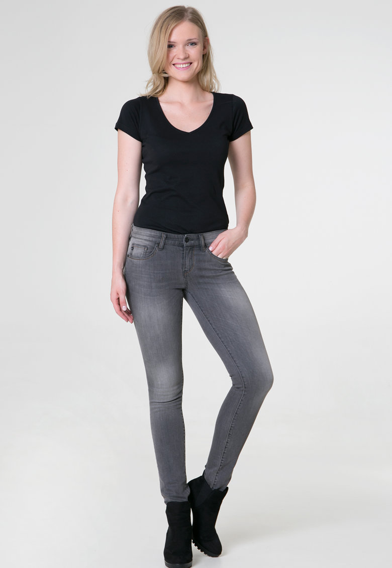 Big Star Blugi skinny cu aspect decolorat Cindy