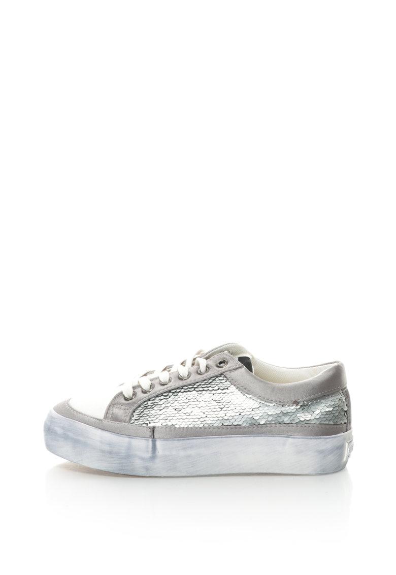 Fiorucci Pantofi sport cu insertie din paiete