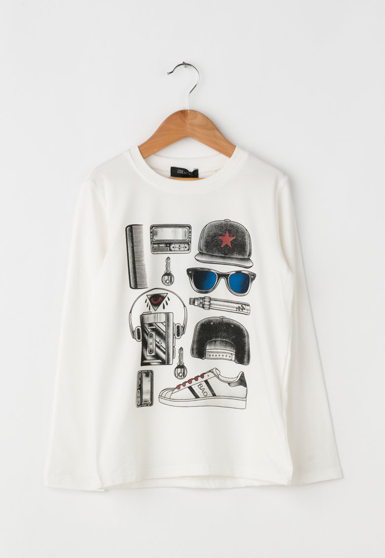 Bluza cu imprimeu ZLK18F-6025 de la Zee Lane Kids