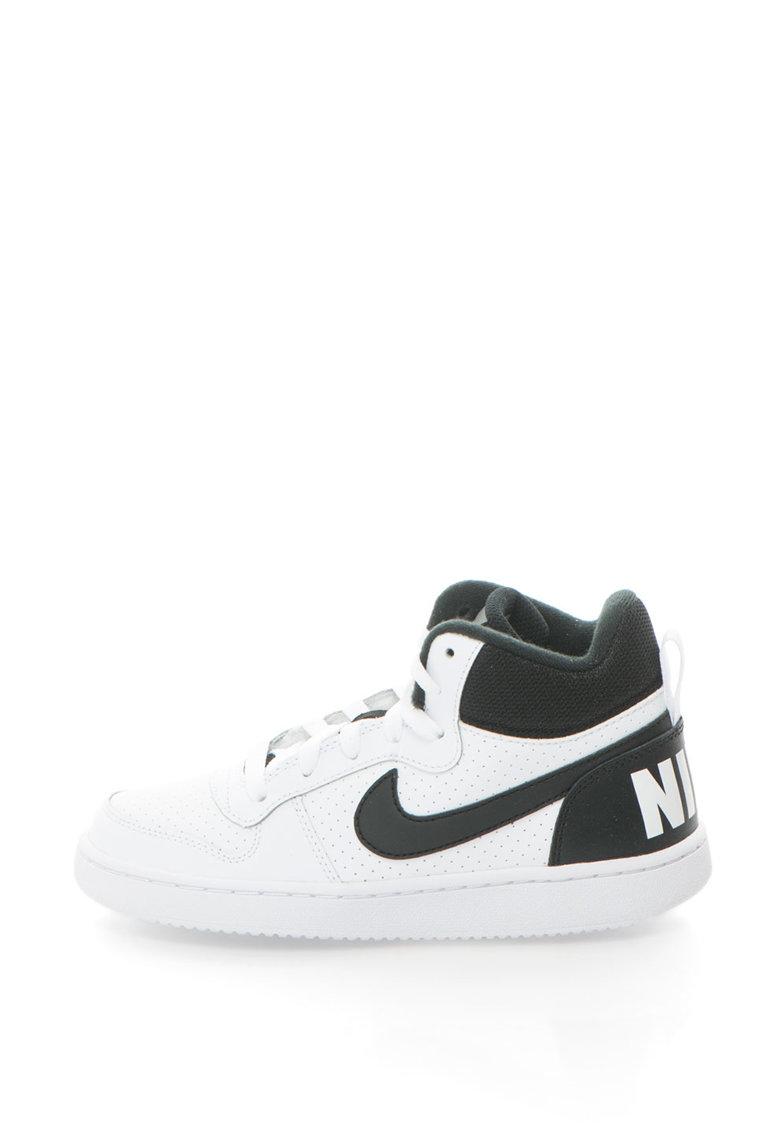 Pantofi sport mid-high cu garnituri de piele Court Borough de la Nike