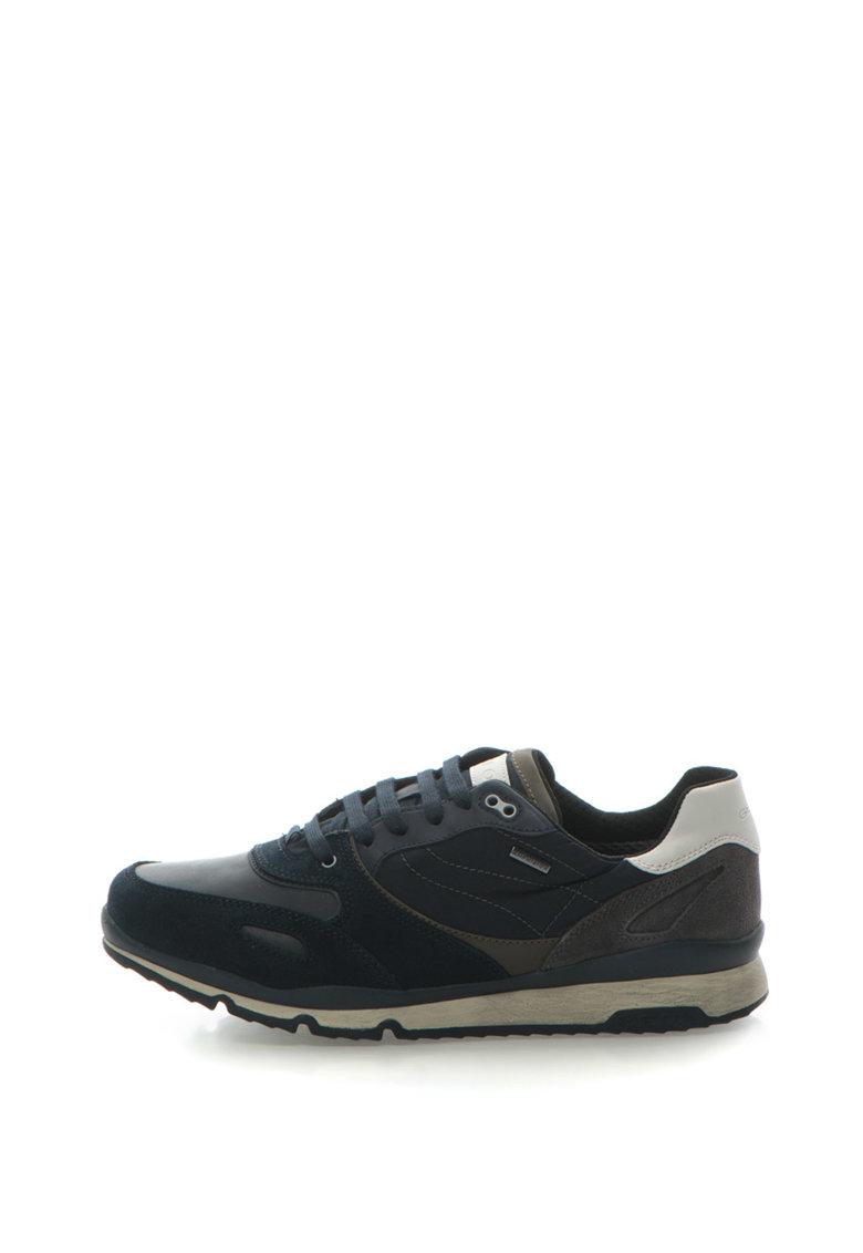 Geox Pantofi sport de piele intoarsa cu garnituri textile Sandford