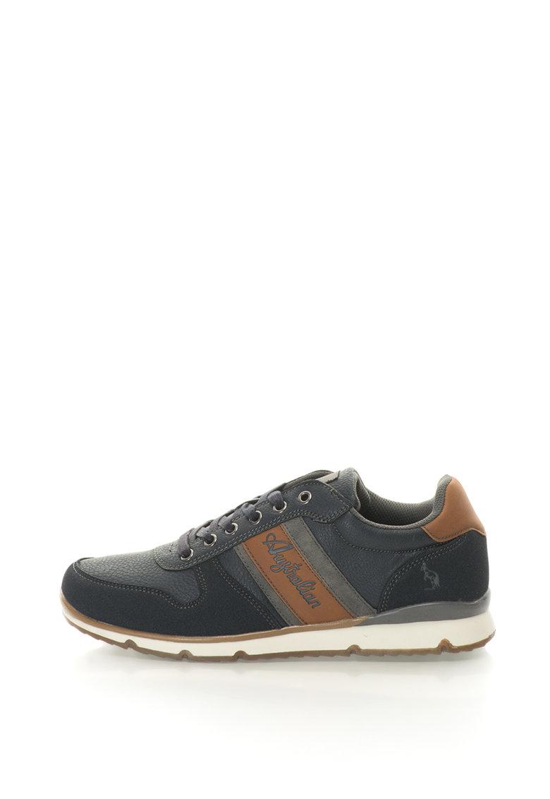 Australian Pantofi sport de piele sintetica si piele intoarsa sintetica