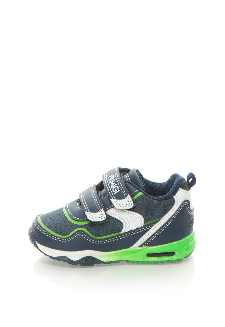 Pantofi sport cu LED si benzi velcro de la Primigi – 8338100-NAVY-NAVY