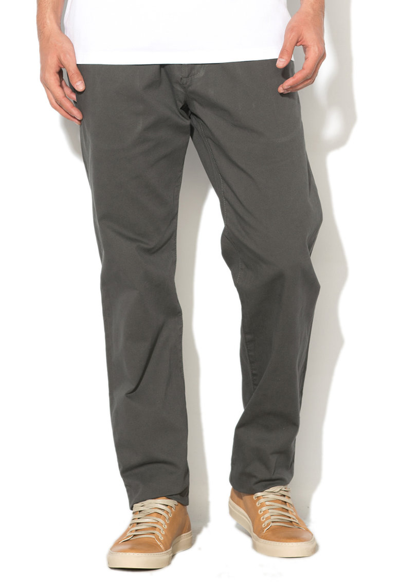 Esprit Pantaloni chino slim fit texturati