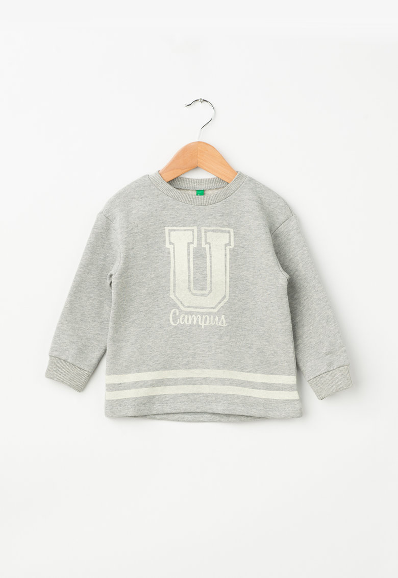 United Colors of Benetton Pulover cu imprimeu text