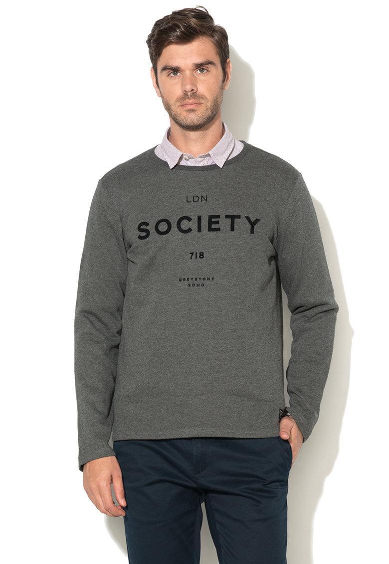 Greystone Bluza sport cu imprimeu text