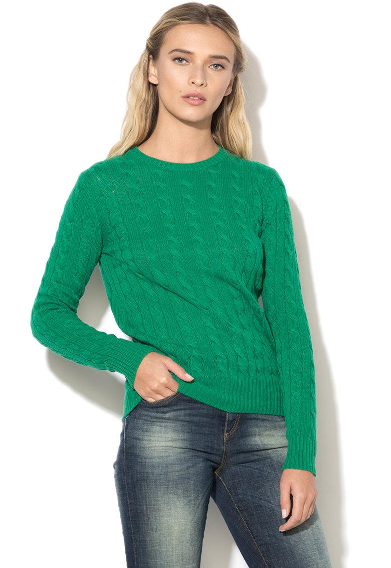 United Colors of Benetton Pulover de lana cu torsade