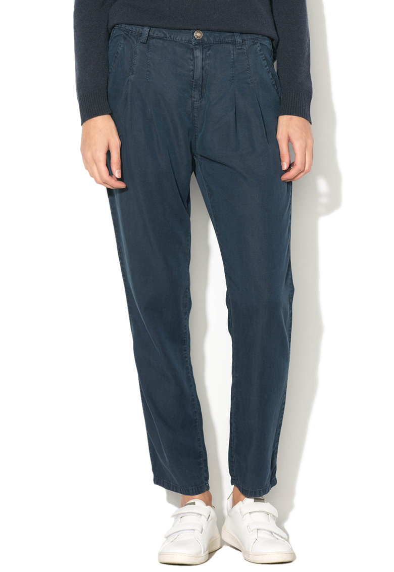 United Colors of Benetton Pantaloni boyfriend din chambray cu buzunare oblice