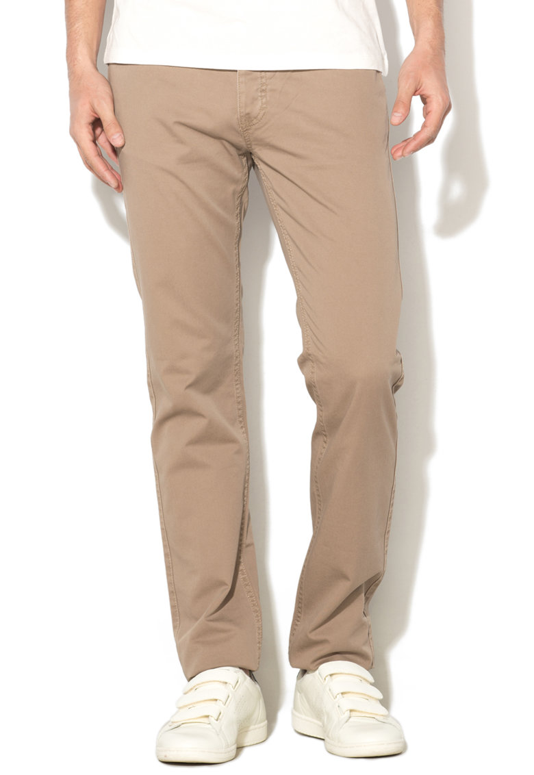 United Colors of Benetton Pantaloni slim fit cu inchidere cu nasturi