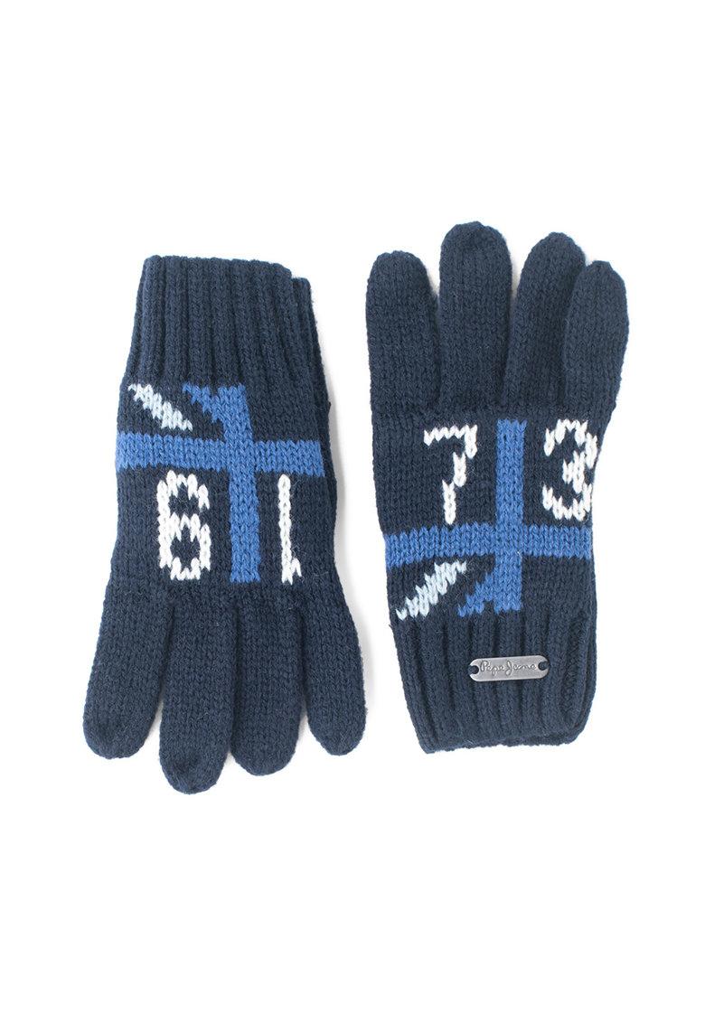 Manusi tricotate cu mansete striate Ben de la Pepe Jeans London