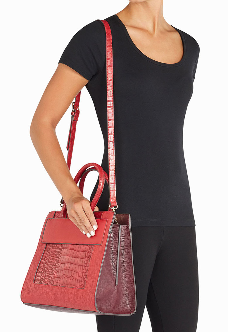 Geanta tote cu model reptila de la NEXT – 174679-RED