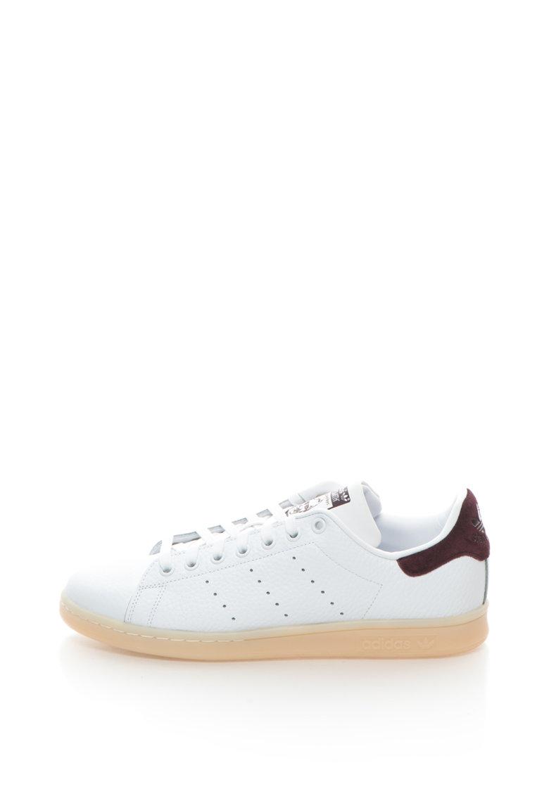 Adidas ORIGINALS Pantofi sport  din piele si piele intoarsa Stan Smith