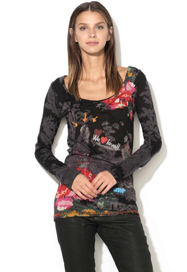 DESIGUAL Bluza cu model abstract Alejandra