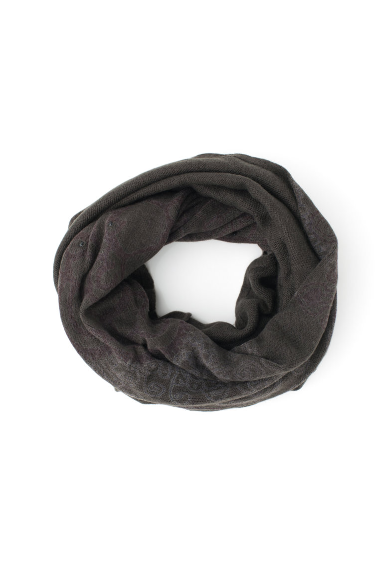 Fular circular tricotat cu strasuri de la DESIGUAL