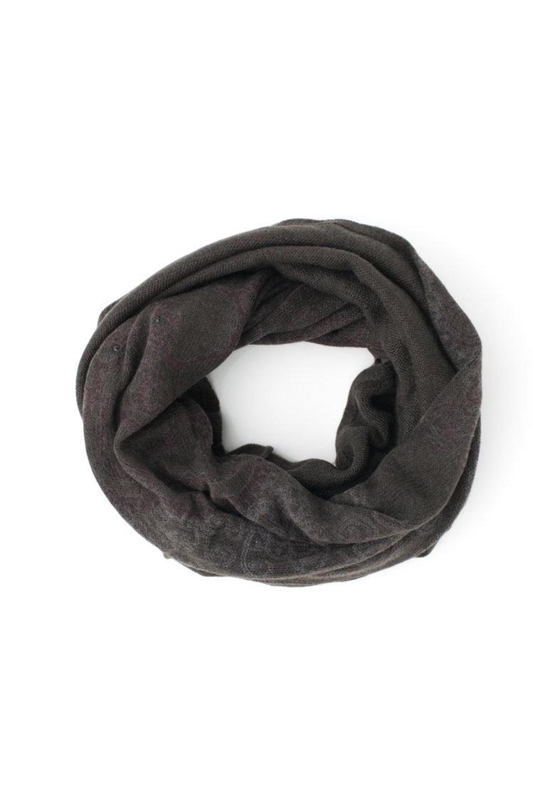 DESIGUAL Fular circular tricotat cu strasuri