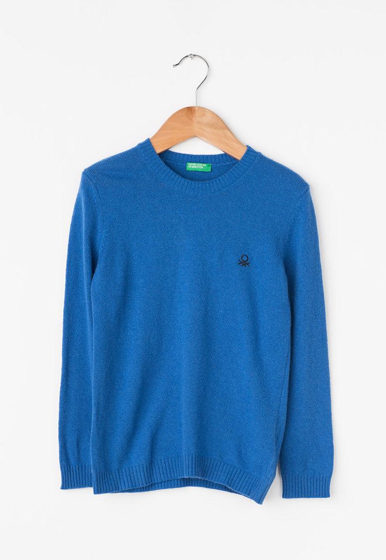 Pulover tricotat fin cu logo brodat de la United Colors of Benetton