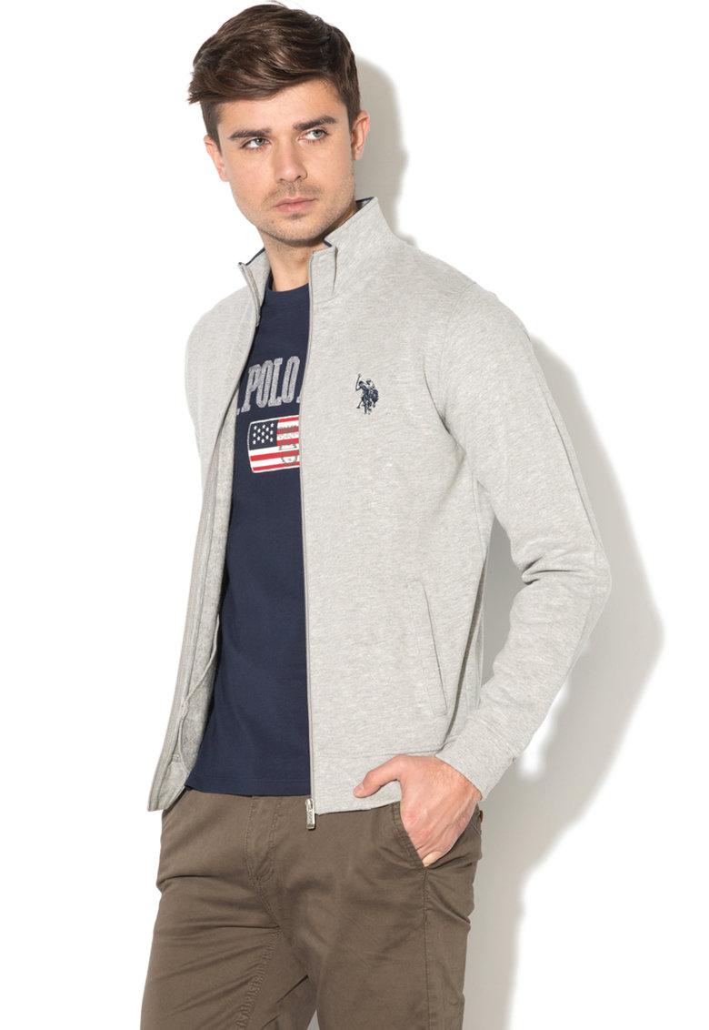 Bluza sport cu fermoar si logo brodat de la US Polo Assn