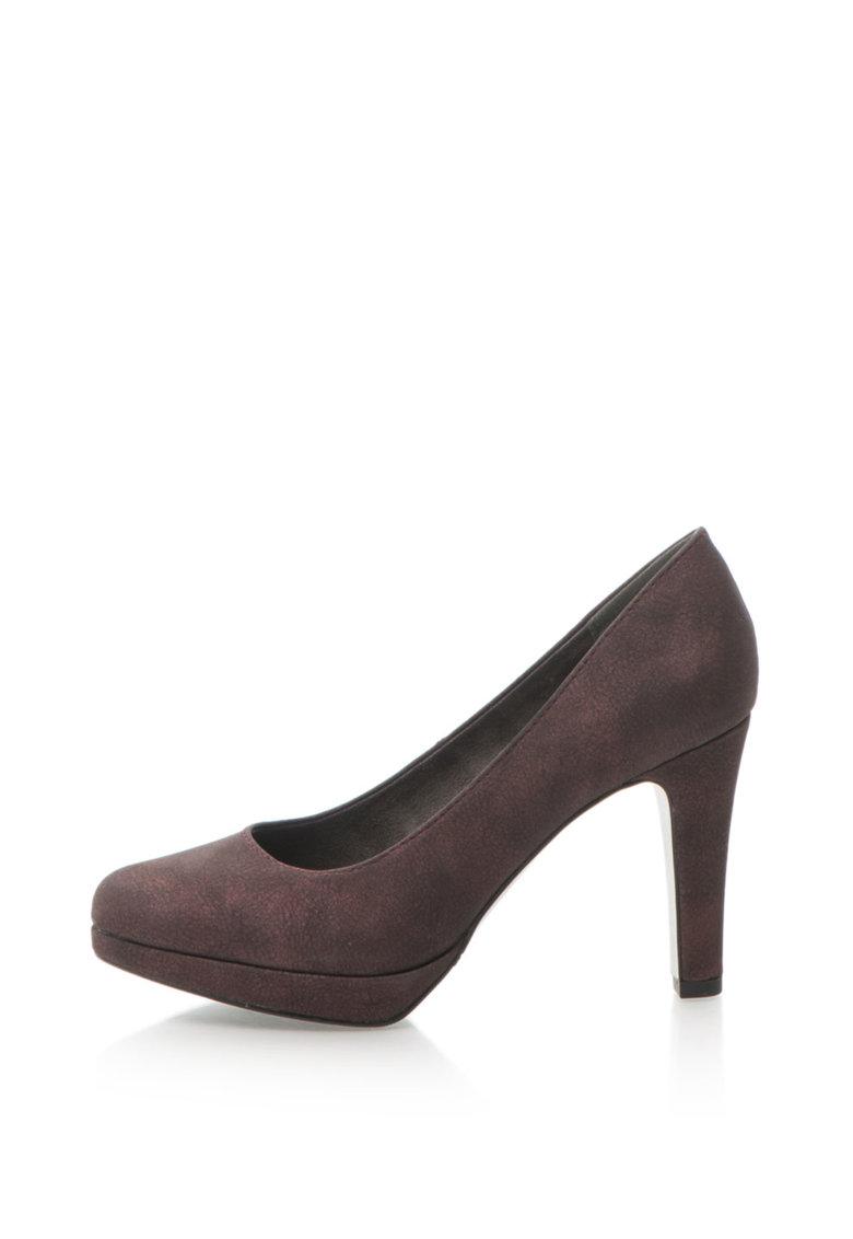 Pantofi de piele sintetica cu toc inalt de la sOliver